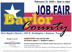 Baylor County Job Fair